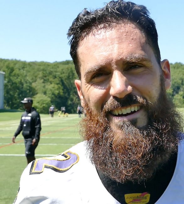 Eric Weddle has the best beard in the NFL